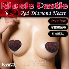 Lovetoy.Nipple Pasties Red Diamond 性感紅寶石 心形乳貼